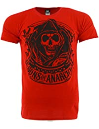 Sons Of Anarchy Reaper Banner Red T-shirt Official Licensed TV