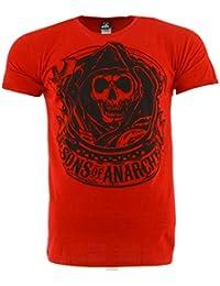Sons Of Anarchy Reaper Banner Rouge T-shirt Officiel Autorisé TV