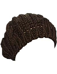 Boolavard TM Nuovi arrivi donna inverno caldo maglia uncinetto Slouch  larghi Beret Beanie cappello Cap nero fb463baea151