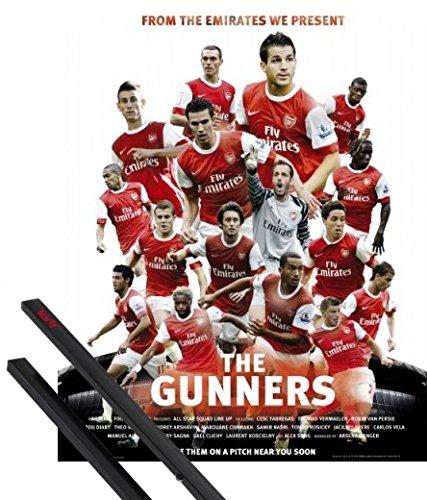 1art1 Poster + Hanger: Fußball Mini-Poster (50x40 cm) FC Arsenal, The Gunners 10/11 Inklusive EIN Paar Posterleisten, Schwarz - 50 Velo-fan