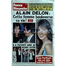 FRANCE DIMANCHE [No 1941] du 14/11/1983 - alain delon - cette femme bouleverse sa vie - anne parillaud a 23 ans - l'affaire du fils imposteur dans une famille belge - rose laurens a 30 ans