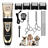 Pet Grooming Clippers, Focuspet Dog Clippers Rechargeable Cordless Dog Grooming Clippers Kit Low