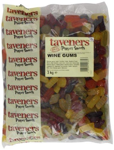 """taveners Englischer Weingummi """"Natural"""", 1er Pack (1 x 3 kg)"""