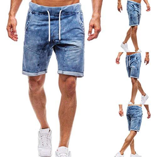 Kaister Männer Mode Jeans Shorts für lässig lose große Bermuda Strecken Kurze Hose Stretch Denim Crop Hose