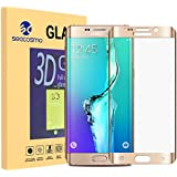 Galaxy S6 Edge Plus Protector de Pantalla, Seacosmo Cristal Templado Vidrio Templado 3D Full Coverage 9H Protector de Pantalla Completa Tempered Glass Screen Protector para Galaxy S6 Edge Plus,Oro