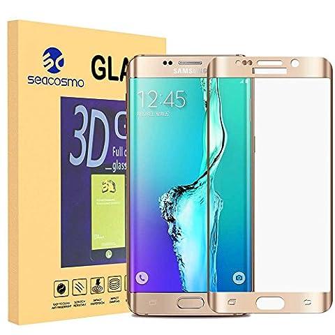Galaxy S6 Edge Plus Schutzfolie, Seacosmo Displayschutz Panzerglas mit 9H