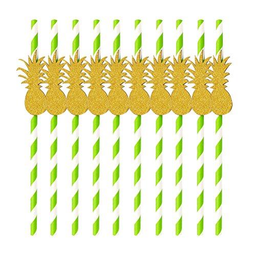 NUOLUX-10pcs-Party-Paper-Straws-Beber-pajas-Luau-fiesta-de-la-decoracin-de-la-tabla-de-barbacoa-decoracin-hawaiana-del-tema-pia