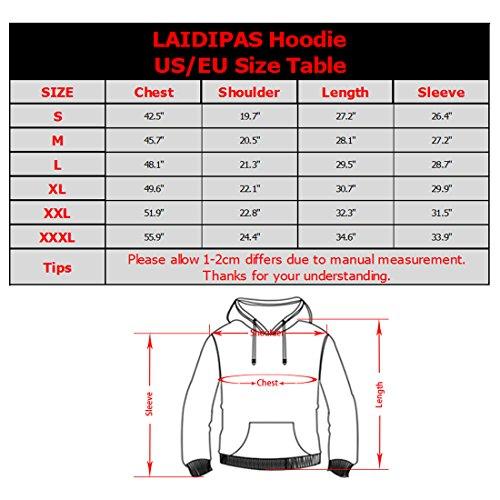 LAIDIPAS Unisex Realistische 3D Galaxy bedruckte große Taschen Drawstring Pullover Hoodie Kapuzen Sweatshirt Style 5