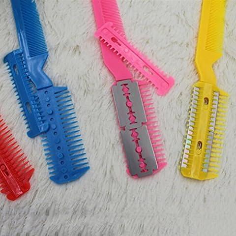 BESTIM INCUK(R) DIY maquinilla de afeitar del peine del pelo de peluquería adelgazamiento del condensador de ajuste del punk Inicio Profesional de tijera