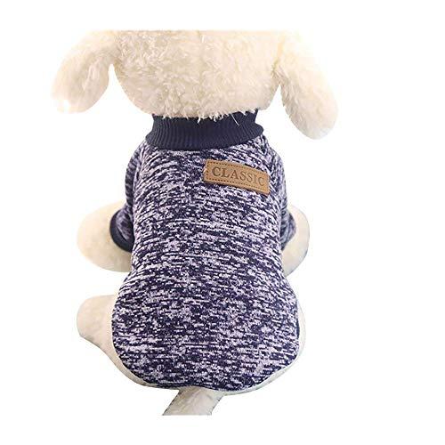 Tragen Navy Jumper (Balock Schuhe Pet Pullover,Kleine Haustier Hund Pullover Soft Bequem Sweatshirt 3 Farben für Teddy Mops Bulldogge (Navy, M))