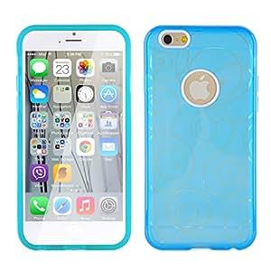Coque iPhone 6 6s Coque silicone iPhone 6 6s | JAMMYLIZARD | Coque silicone souple transparente coque transparente coque cadre de couleur pour iPhone 6 6s, Bleu pâle translucide