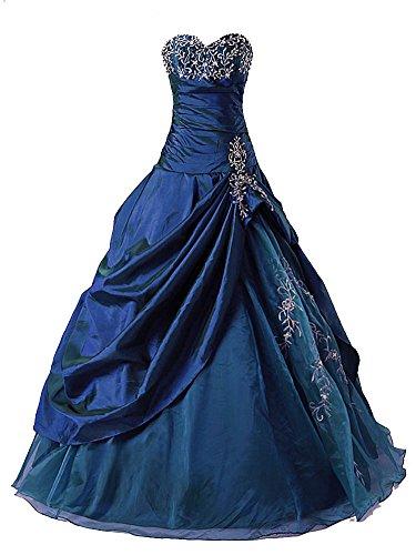Vantexi Frauen Formellen Abschlussball Abend Kleid Ballkleid Prom Kleider Blau Größe 42