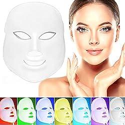 7 Color LED Gesichtsmaske Photonen-Therapie Maske Anti-Aging, Falten, Kollagen, Narbenbildung Aufhellung Verjüngung. Straffung Haut Balance Fett-Gesichtshaut Verjüngung Therapie Gesichtspflege