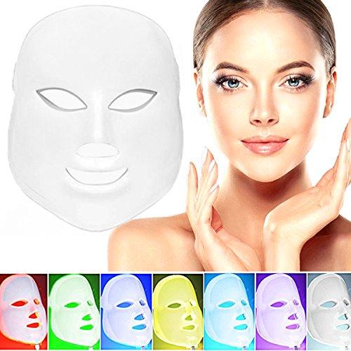 7 colore LED viso maschera-fotone terapia per il r...