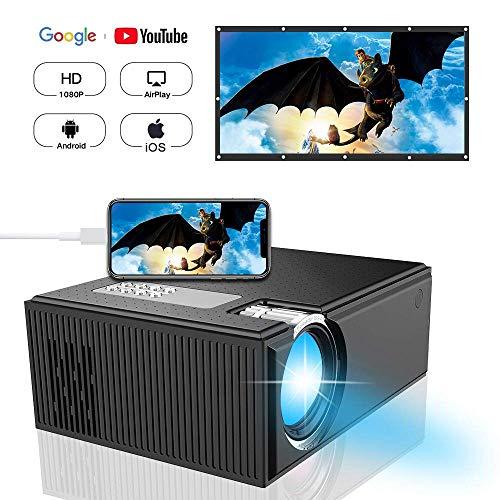 Beamer DIWUER Videoprojektor LCD Mini Filmprojektor Heimkino Unterhaltung Unterstützung 1080 P iPad iPhone Android Smartphone AV VGA USB SD HDMI Eingang