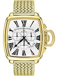 Glam Rock Vintage Herren-Armbanduhr Armband Gold beschichtetes Edelstahl + Gehäuse Batterie GR28102F-N