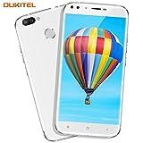 Handy ohne Vertrag, Oukitel U22 5.5 Zoll Smartphone (Große Batterie 2700mAh, Android 7.0, 2GB +16GB Interner Speicher, 13MP + 8MP) Handy mit 2 Simkarten GPS Bluetooth WIFI-Weiß
