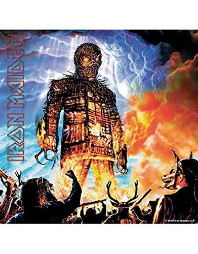 Iron Maiden Untersetzer Wicker Man Nue offiziell 9.5cm x 9.5cm single - Wicker Man-shirt