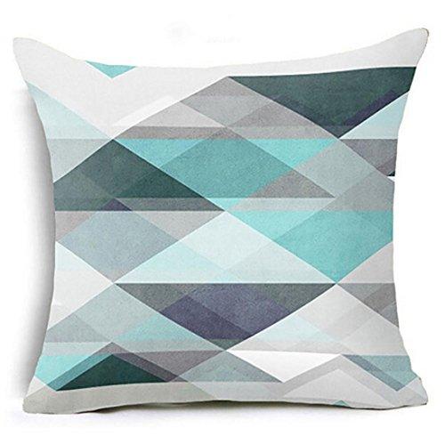 Jaminy Komfortable Geometrische Kissen Fall Taille Kissenbezug Sofa Home Dekoration (D)