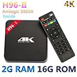 TV Box h96-ii Android 7.1 OS Amlogic S905 X Quad Core 2 GB 16 GB CPU BT 4.0 2,4 GHz + 5.0GHz WiFi Mini PC Streaming Player