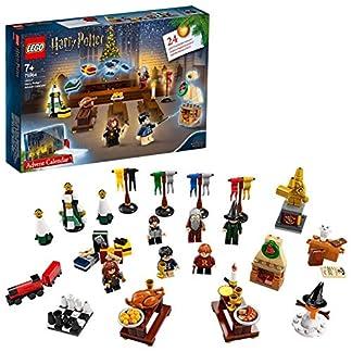 LEGO Harry Potter – Calendario de Adviento 2019, Juguete de Construcción con 7 Minifiguras del Mundo Mágico, un Mini Tren de Hogwarts y a Hedwig (75964)