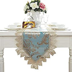 Siyushop Tischläufer Tisch Flagge Spitze Stoff Hochzeit Dekoration blau (Color : 40 * 250cm)