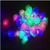 LOSORN ZPY Weinachten Chic Tannenzapfen Batteriebetriebene LED Lichterkette Dekoration Für Weinachtsbaum Garten Ihnen & Außen (Buntes, 20er-3m)