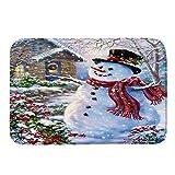 YCGG Fußabstreifer für Haustür innen und außen Frohe Weihnachten gedruckt,Willkommen Fußmatten Indoor Home Teppiche Decor 40x60CM(40cm x 60cm,F)