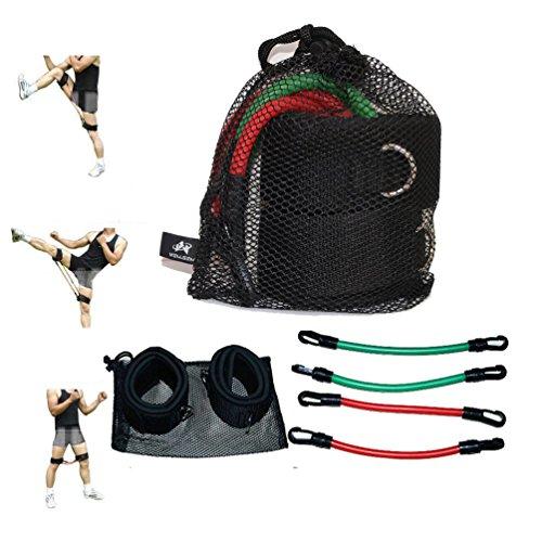 Wellsem, elastici di resistenza per allenare l'agilità e la forza delle gambe (attrezzatura per gli esercizi di fitness e taekwondo)