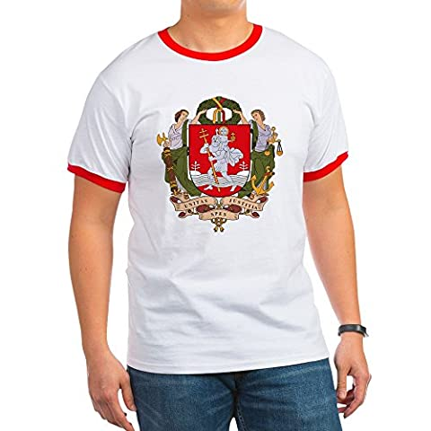 CafePress - Vilnius Coat Of Arms - Ringer T-Shirt, 100% Cotton Ringed T-Shirt, Vintage Shirt