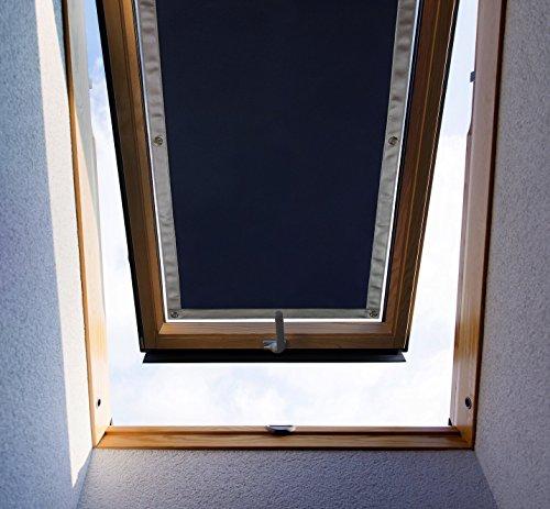 Purovi Thermo Sonnenschutz für Dachfenster | Hitzeschutz für Innen | ohne bohren ohne kleben | große Auswahl für Velux + Roto Fenster | Ausgewählte Größe: Velux F06 und 206 – 47 x 92cm