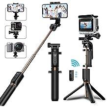 Perche Selfie Trépied Bovon Bluetooth Selfie Stick Monopode Extensible avec Télécommande, 360° Rotable Bâton de Selfie pour iPhone XS Max/XR/XS/X/8 Plus, Samsung S9/Note 9, Gopro et Caméras d'Action