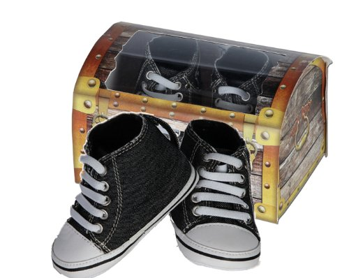 Chaussures coffre trésor ? Baskets denim noir