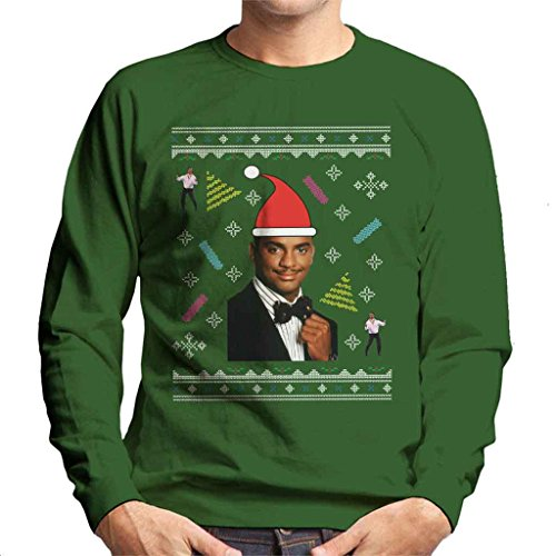 Fresh Prince Of Bel Air Carlton Dance Christmas Knit Pattern Men's Sweatshirt (Fresh Prince Bel Air Bekleidung)