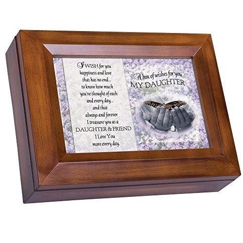 Box of Wishes für Sie Tochter Holzmaserung Digital Andenken Musik Box spielt Ich kann nur Imagine (Tochter Andenken Box)