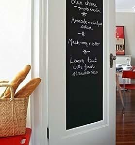 Mfeir®, lavagna di pellicola, autoadesiva, da parete, per la camera dei bambini. Lavagna nera adesiva. 45x 200cm