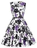 1950er vintage-kleid audrey hepburn schwingen pinup tanzkleid ballkleid damen kleider Größe XL CL6086-48