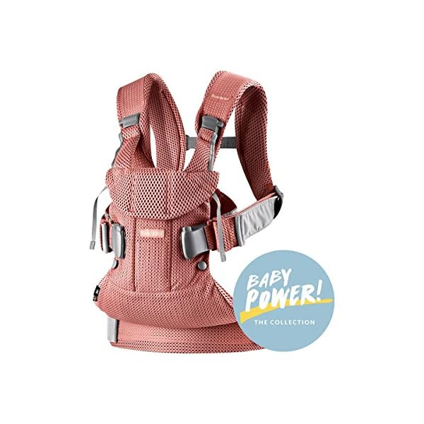 Baby Carrier One Air (Vintage Rose Mesh) Baby Bjorn •Soft and breathable mesh that dries quickly •Ergonomic baby carrier with excellent support •4 carrying positions: facing in (two height positions), facing out or on your back 1