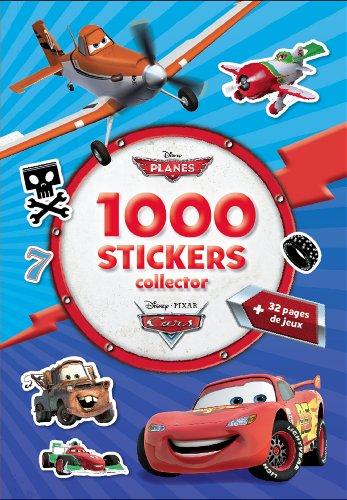 1000 stickers collector Planes et Cars por Disney