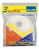 Parodi & Parodi Pulizia Cuffia Lana 3 Dischi Lucidatrice, Tessuto, Bianco, 14x23x1 cm, 3 unità