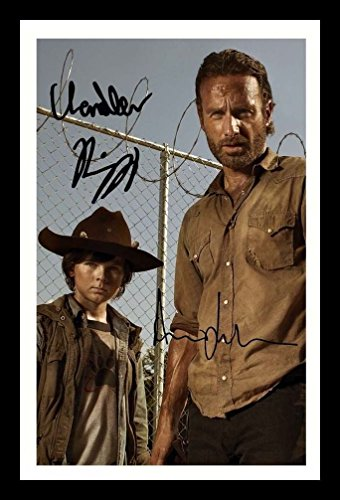 The Walking Dead - Andrew Lincoln & Chandler Riggs Signiert und gerahmt Foto -