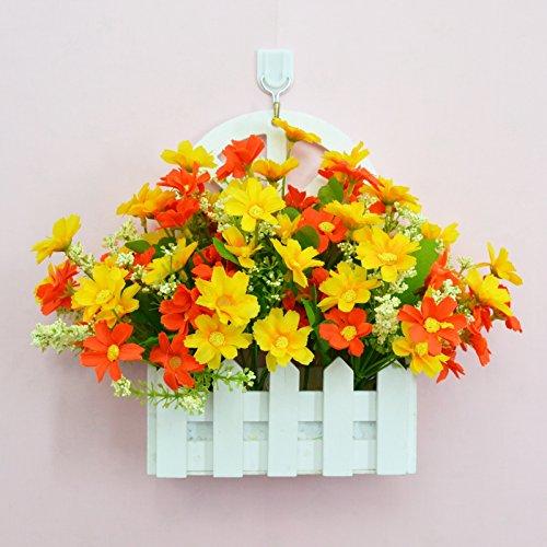 ALLDOLWEGE Personnalisé simple émulation menuiserie plastique en pot en pot pot de fleurs d'émulation de dans le mur de lumière Kit decorationThatOrange jardin exquis +Hook