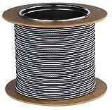 Textilkabel Stromkabel Stoffkabel Lampen-Kabel 2-adrig Pendelleitung (Schwarz-Weiß 04)