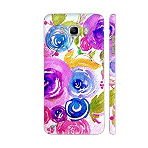 Colorpur Samsung On8 Cover - Blue Floral Pattern 2 Printed Back Case
