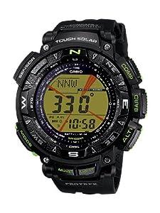 Reloj de caballero CASIO PRG2401BER de cuarzo, correa de resina color negro de Casio