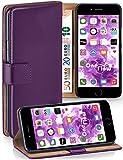 moex Apple iPhone 7/8 | Hülle Lila mit Karten-Fach 360° Book Klapp-Hülle Handytasche Kunst-Leder Handyhülle für iPhone 7/8 Case Flip Cover Schutzhülle Tasche