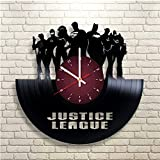 My STORE For YOU Justice League DC Comics Film Personnages Disque Vinyle Motif Horloge Murale-Décorez Votre Maison avec Moderne Famous Batman Dark Knight étage Art Cadeau pour Homme ou Femme