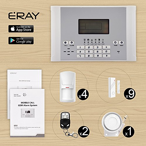 ERAY M2C GSM Funk Alarmanlage mit LCD Display,Alarm SMS...