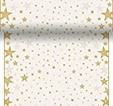Duni Tischläufer 3 in 1 Shining Star Cream 0,4 x 4,8 m