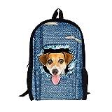 SYGoodBUY Rucksack Unisex 3D Hund Rucksack Multi-Funktion - Mezzanine für Laptop - Rucksack Schule Reise Freizeit (Farbe : Wie gezeigt)